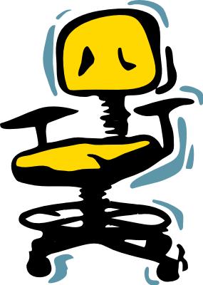 office chair yellow - public domain clip art image @ wpclipart.