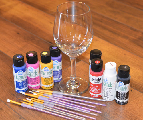Painted Wine Glass DIY supplies