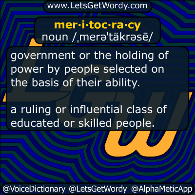 meritocracy 04/14/2018 GFX Definition