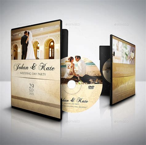 Wedding DVD Cover and Label Template Bundle Vol.1 by