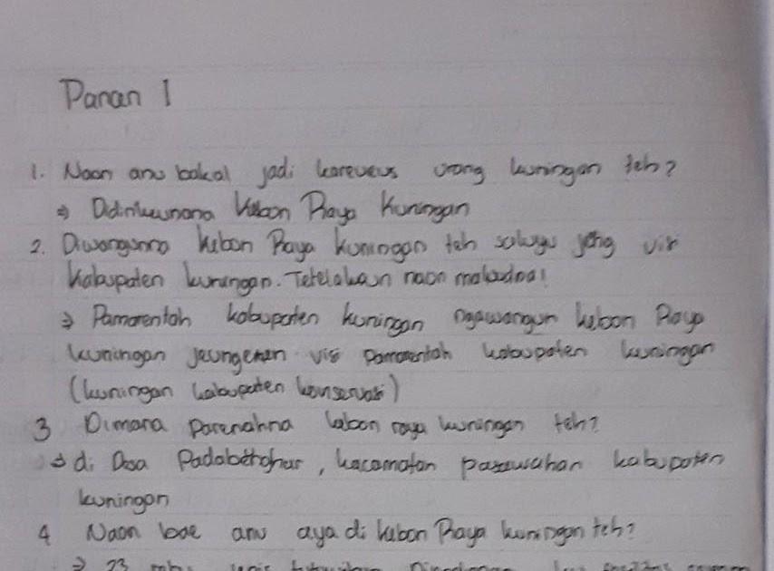 Kunci Jawaban Kelas 6 Bahasa Sunda Halaman 21 Guru Paud