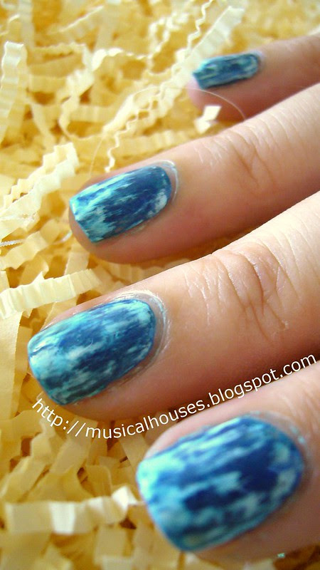 acid wash jean nail art 3