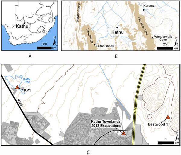 Figura 1 Ubicación de Kathu Townlands.
