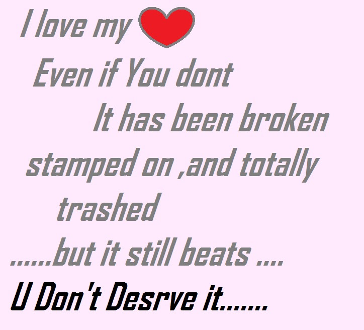 You Broke My Heart Quotes Images - Mesgulsinyali