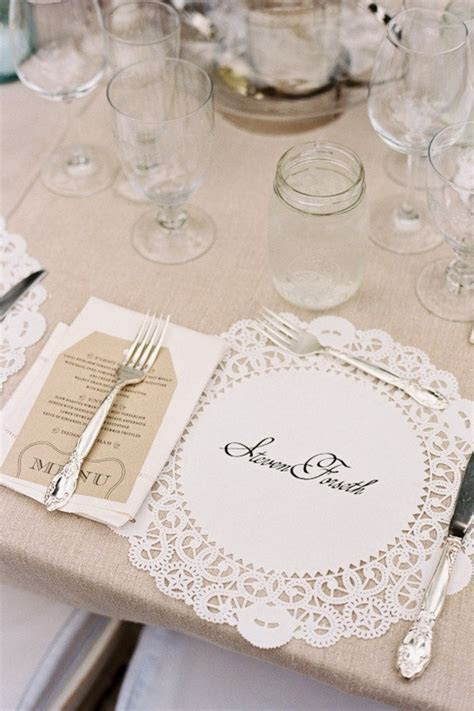 Lace Wedding Place Setting   Fab Mood   Wedding Colours
