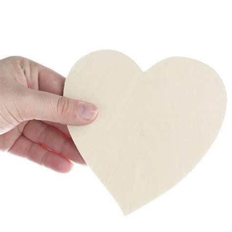 Unfinished Wood Heart Cutout   Wood Cutouts   Wood Crafts