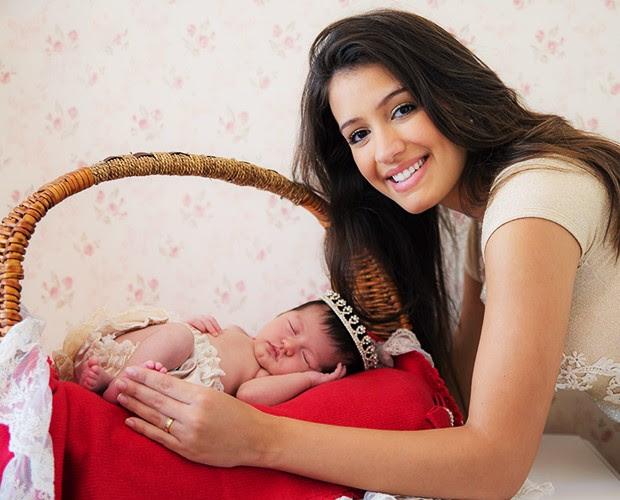 Geórgia e sua filha Giovanna (Foto: André Furtado)