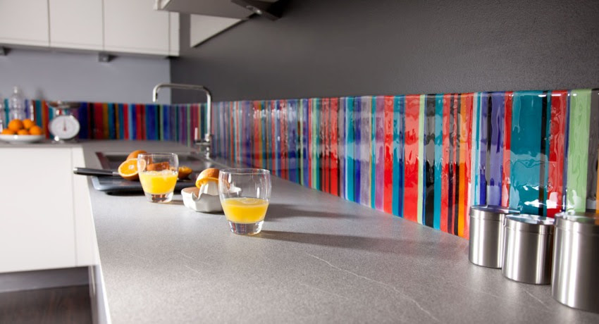 glass backsplash
