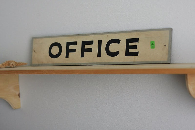 Office sign that beloged to Kevin's grandpapa