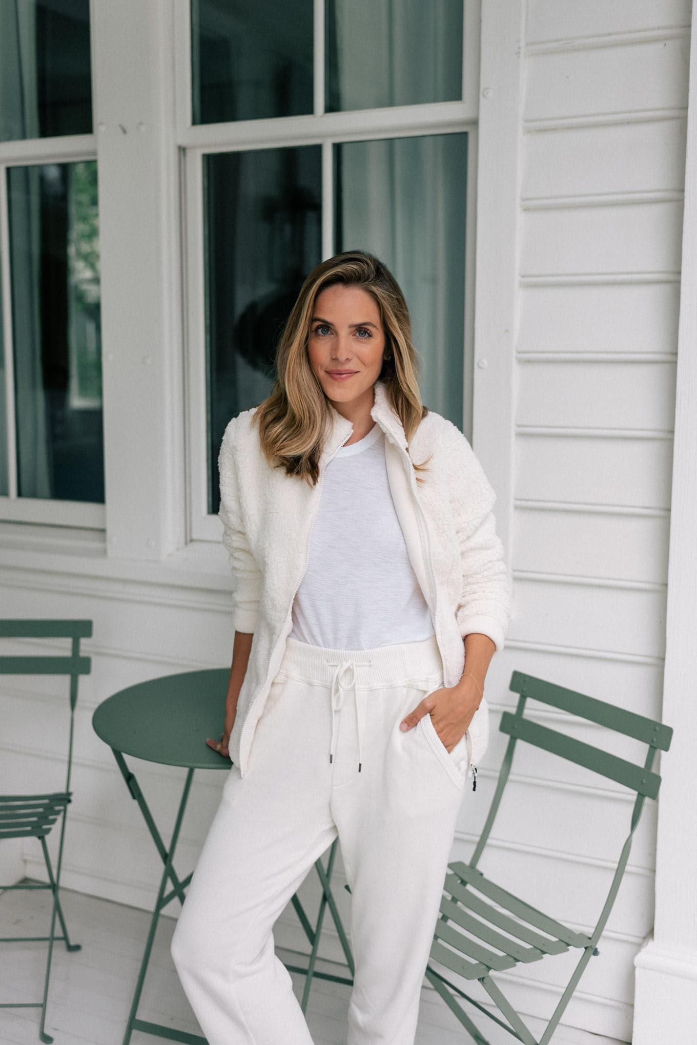 white loungewear set