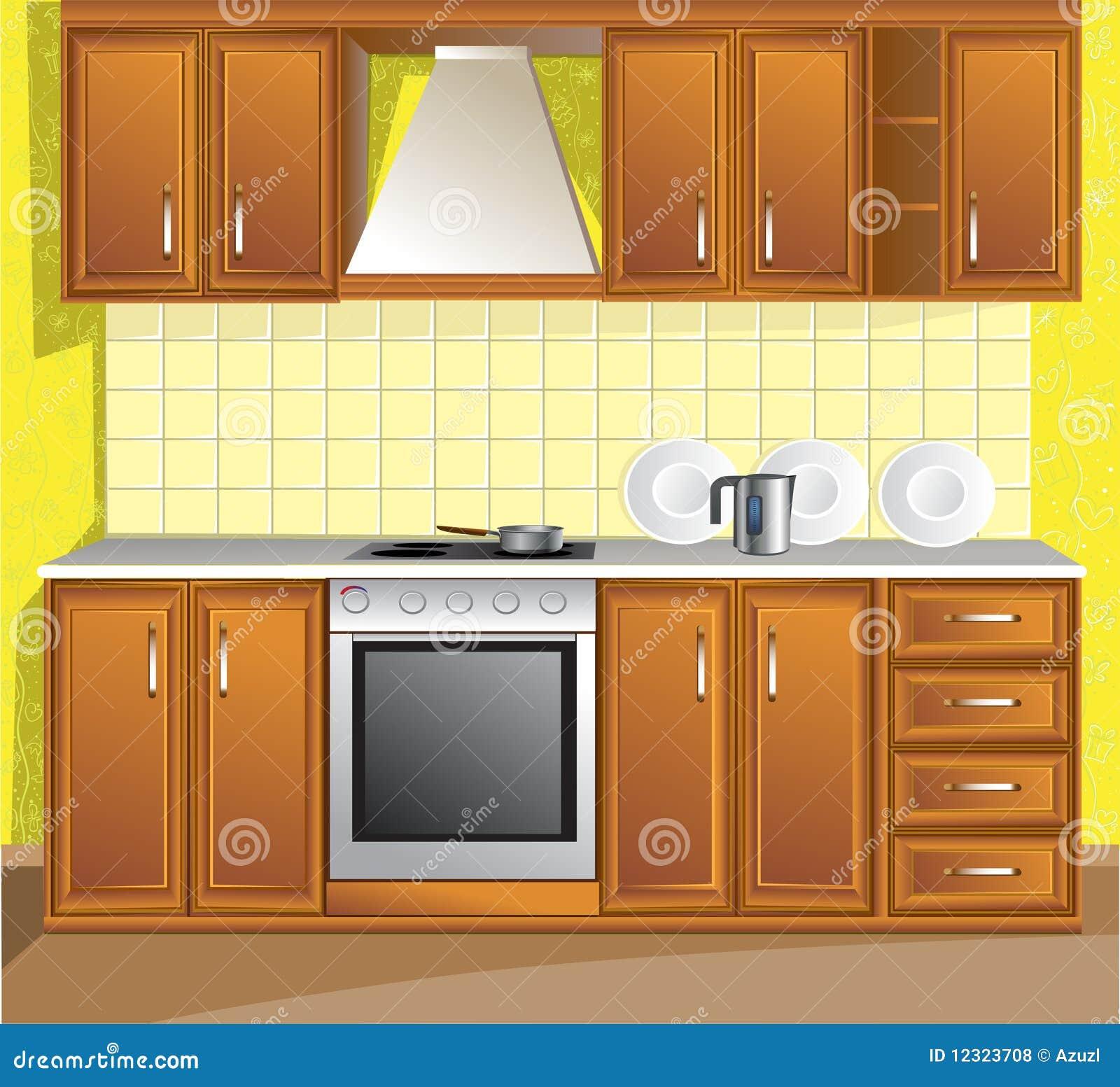 Light Kitchen Room Royalty Free Stock Photos - Image: 12323708
