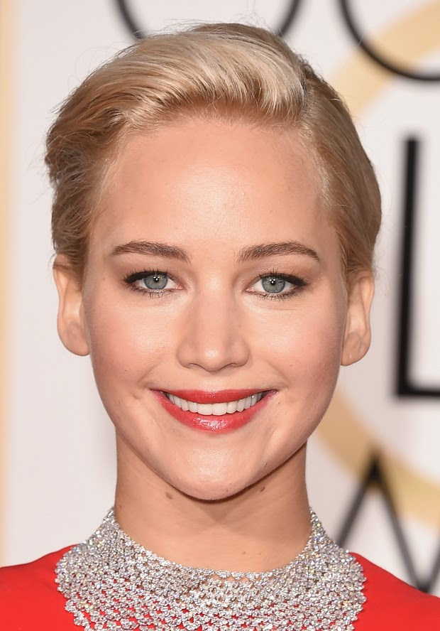 Jennifer Lawrence no Globo de Ouro (Foto: AFP)