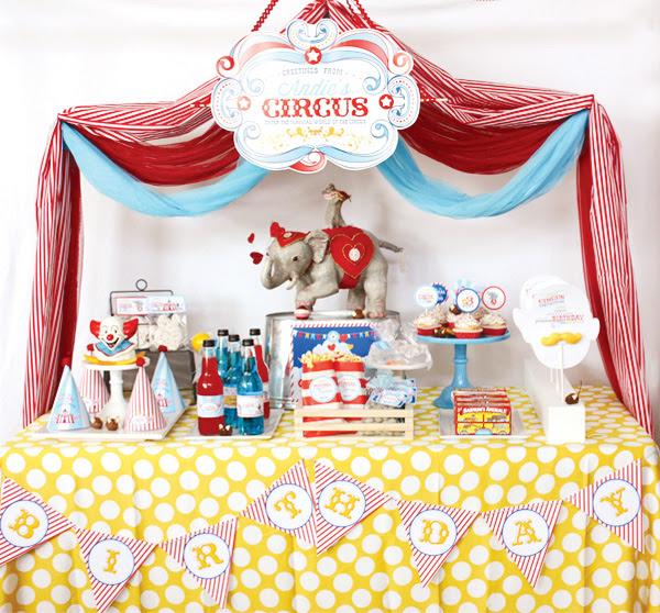 сервировка стола на день рождения тема цирк