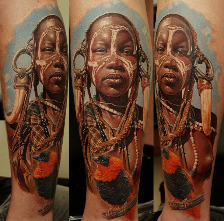 Black Women Tattoo By Dimitry Samohin Tattoomagz