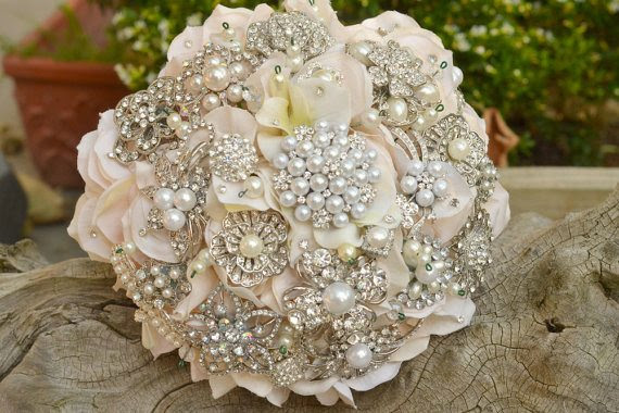 Affordable Brooch Bouquets wedding Brooch Bouquet