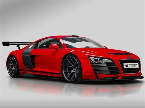 Red AUDI R8 Tuning by PRIOR DESIGN   OopsCars