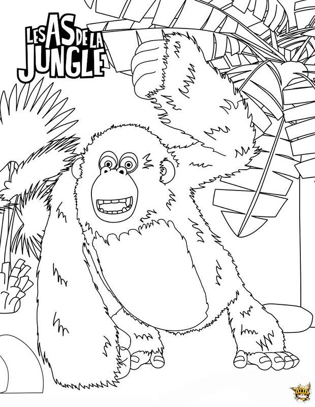 Miguel Le Gorille Est Un Coloriage Des As De La Jungle