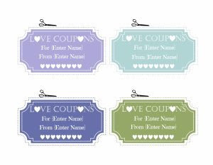 Free Editable Love Coupons