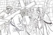 Sexta Estación: Verónica Limpia la Cara de Jesús from Viernes Santo