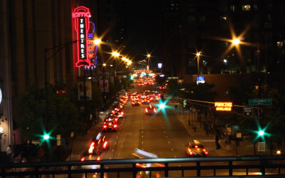 Night scene of chi-town