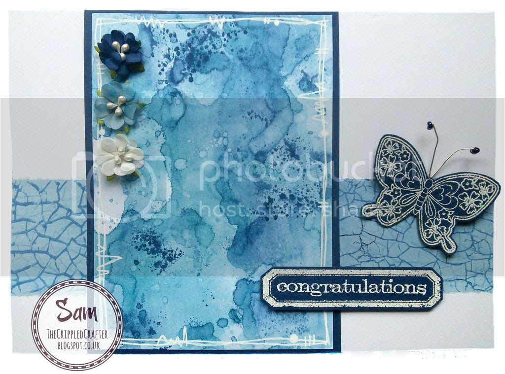 Tim Holtz Distress Ink Mixed Media Card by The Crippled Crafter