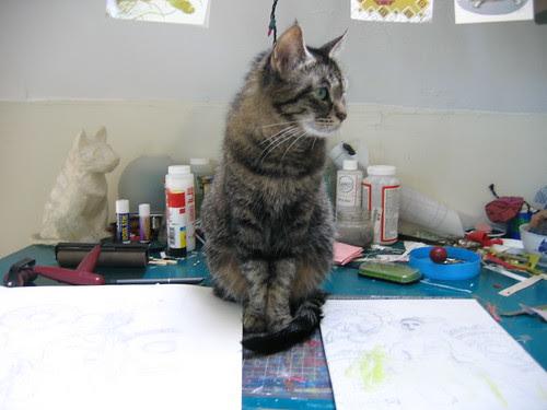 Minouette mirrors cat lamp