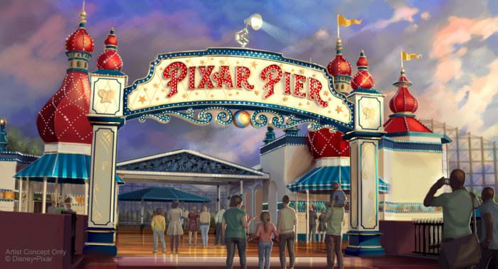 Pixar Pier Marquee Concept Art ©Disney