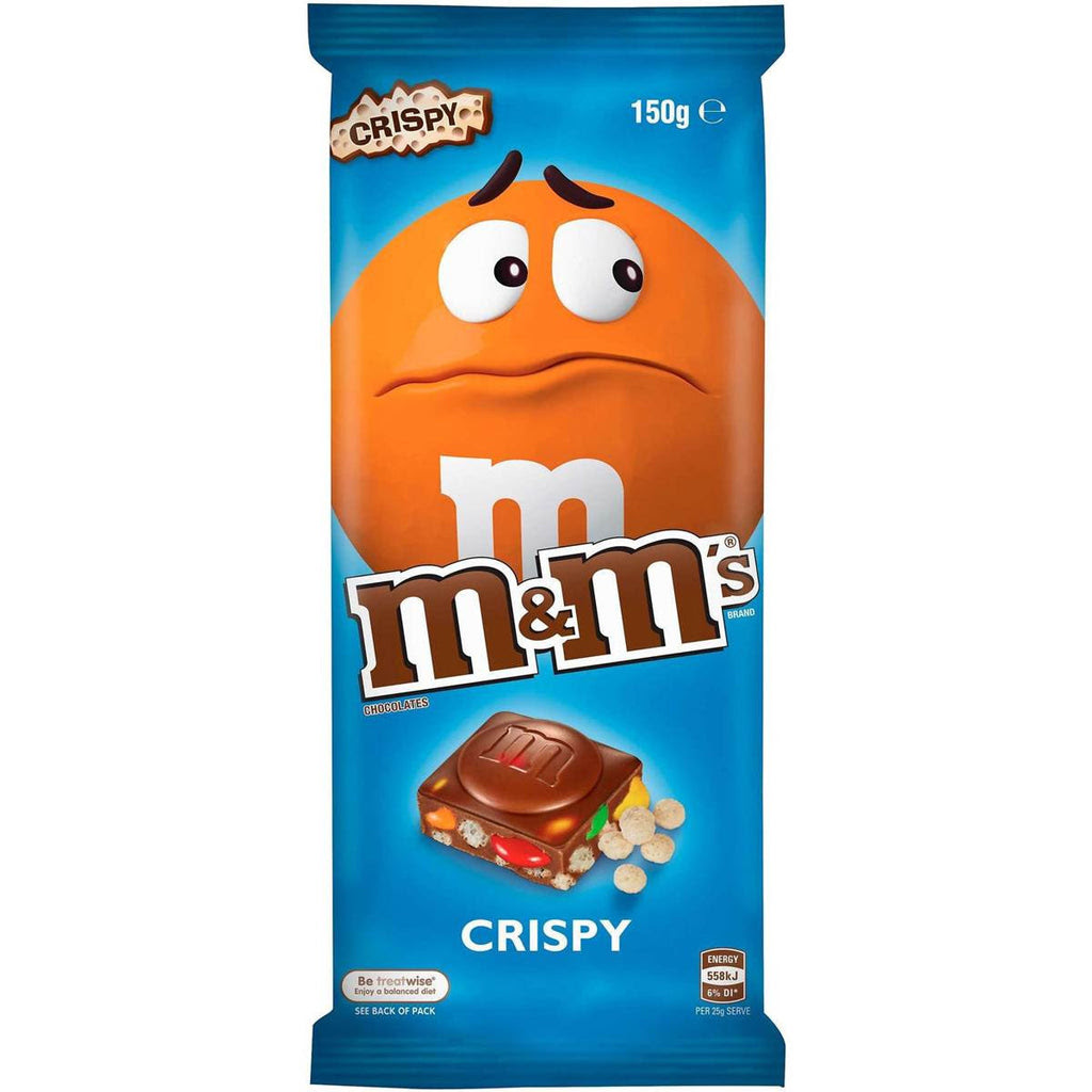 M&M's Crispy Chocolate Block 160g - The Australian Food Shop