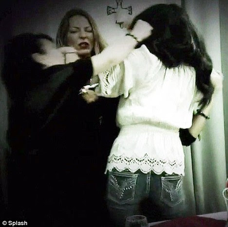Nasty: The women screamed and pulled each other's hair