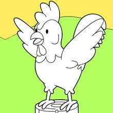 Dibujos Para Colorear Gallo En Los Albores Eshellokidscom