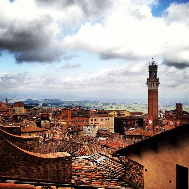 A vista de Siena de cima do Duomo.