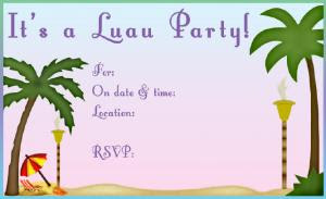Palm Tree Luau Invite