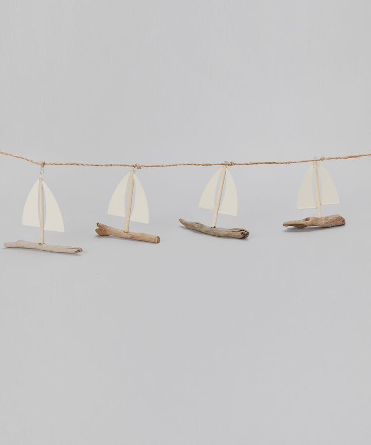 little driftwood sailboat garland