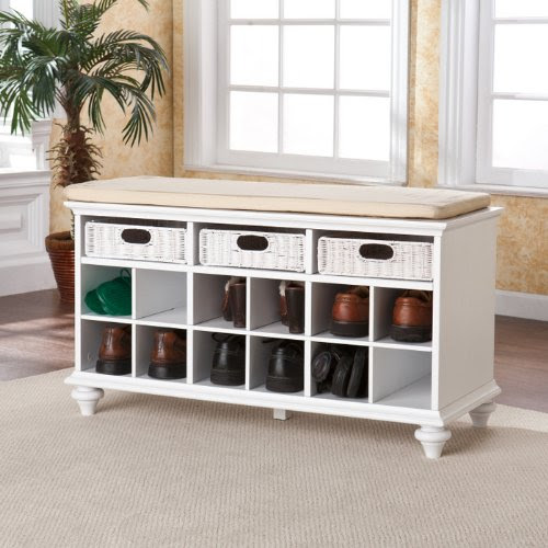 shoe cubby bench : Southern Enterprise Chelmsford Entryway Bench