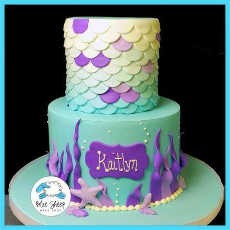 Mermaid Birthday Cake   Blue Sheep Bake Shop