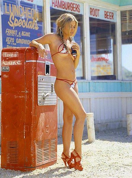 Máquina automática de Coca-cola abandonada