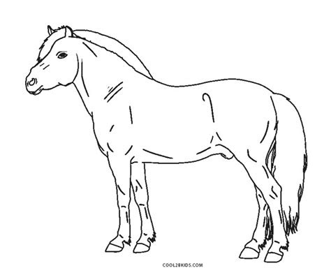 printable horse coloring pages  kids