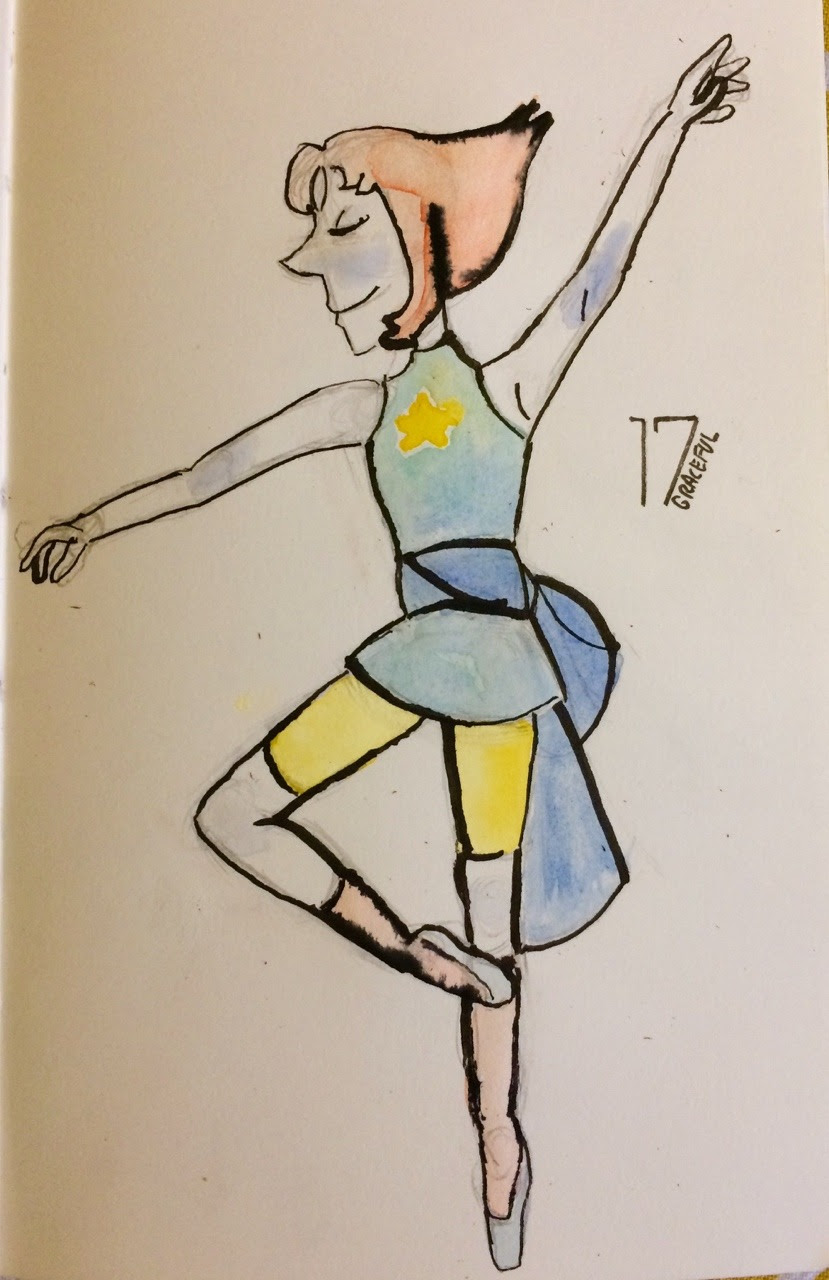 inktober day 17 - graceful its been a while since ive drawn anything from su