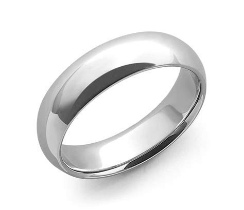 Comfort Fit Wedding Ring in 14k White Gold (6mm)   Blue Nile