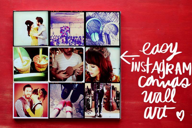 Instagram Canvas Wall Art - A Beautiful Mess