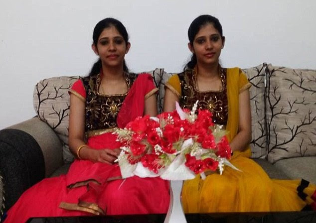 Determination: Nurses Reena and Reema had spent three years searching for the perfect husbands for themselves