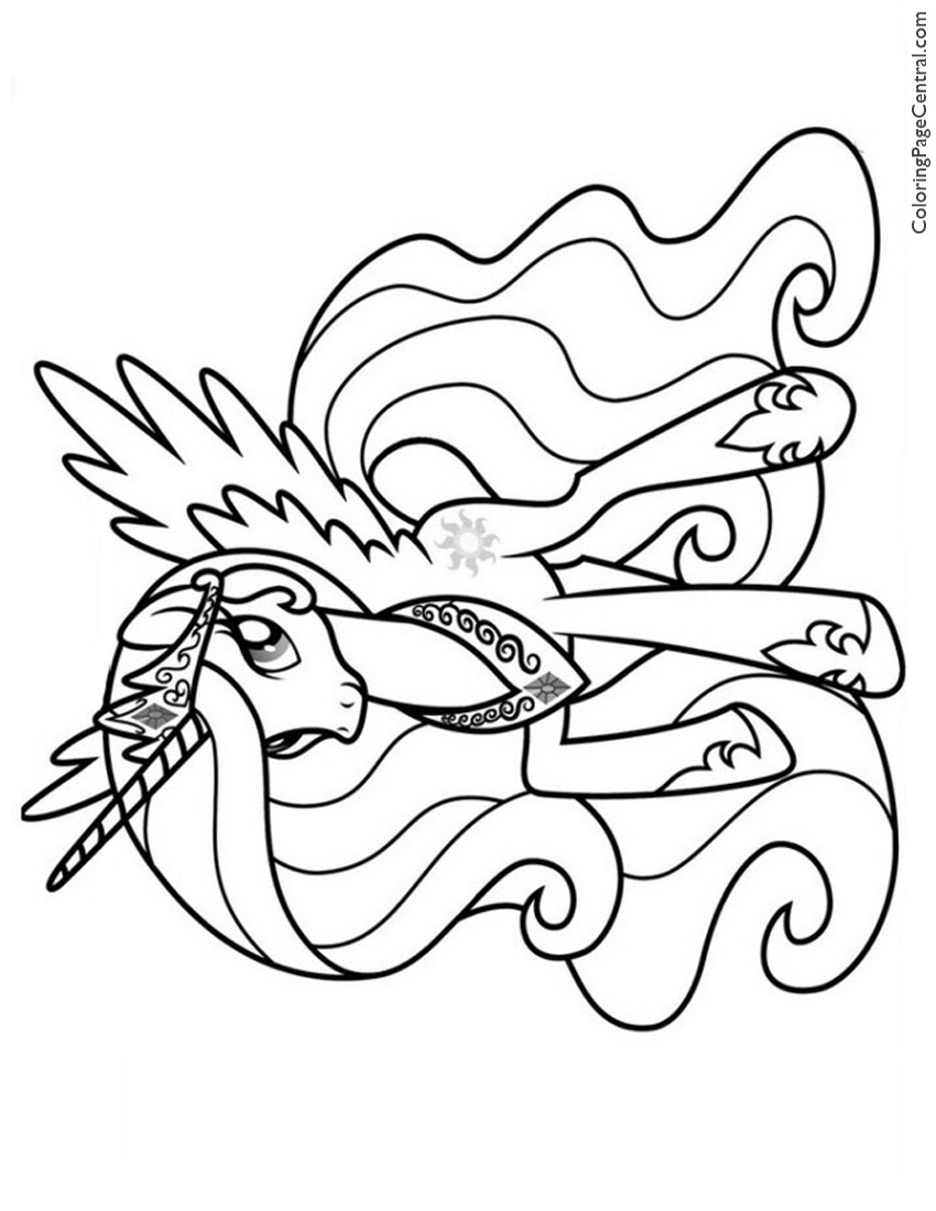 5400 My Little Pony Celestia Coloring Pages Download Free Images