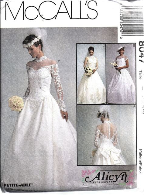uncut vintage mccalls sewing pattern misses bridal