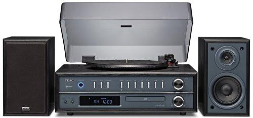 TEAC LP-P1000-B ターンテーブルステレオコンポ Bluetooth/CD/ラジオ搭載 ブラック