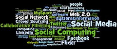 social media, social networking, social computing tag cloud (#2)