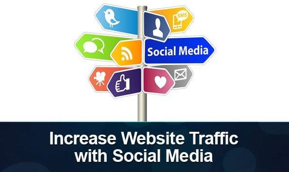 increase traffic through social media