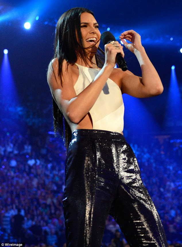 Opps! Kendall Jenner was left red faced after stuffing up her introduction of 5 Seconds Of Summer at the Billboard Music Awards in Las Vegas, Nevada on Sunday