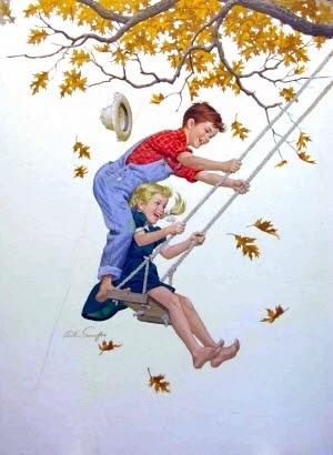 Kids On Swing