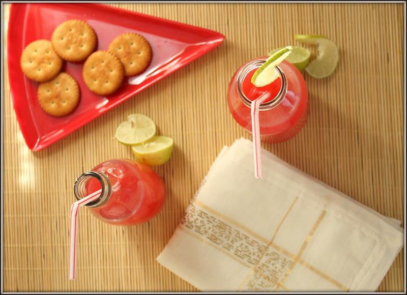 pom and lime juice