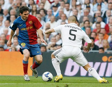 real madrid vs barcelona 1-1 messi goal. Barcelona#39;s Lionel Messi from
